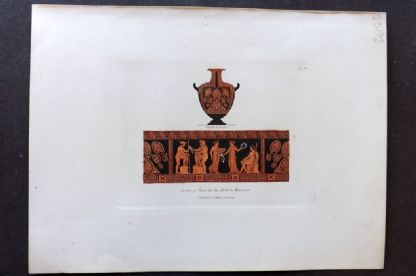 Moses 1840's Antique Hand Col Print. From a Vase in the British Museum 10